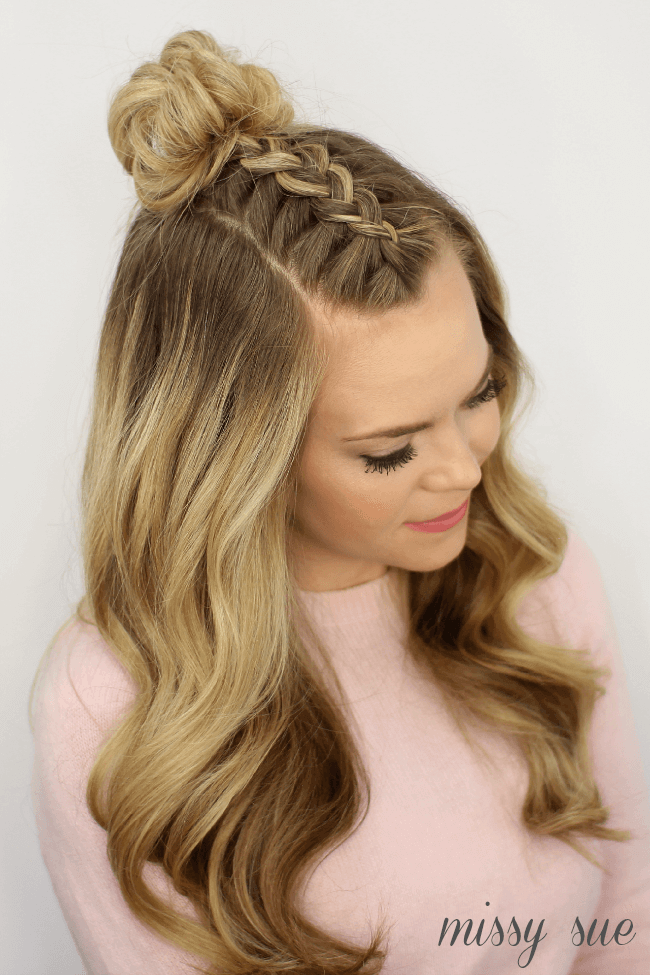 6 braided top knots to give you hair envy. Black Bedroom Furniture Sets. Home Design Ideas
