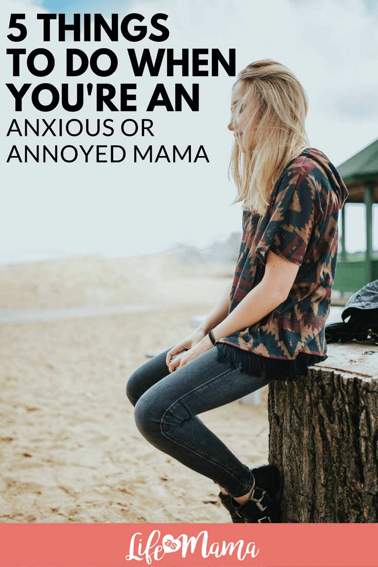 anxious or annoyed mom