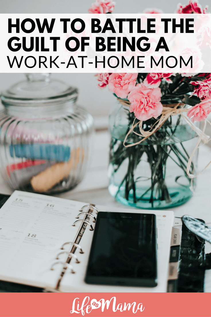 Work-at-home mom guilt