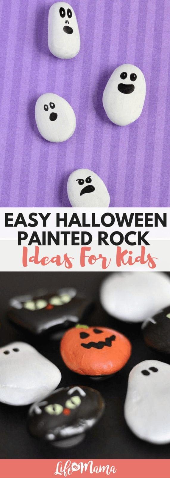 halloween painted rock
