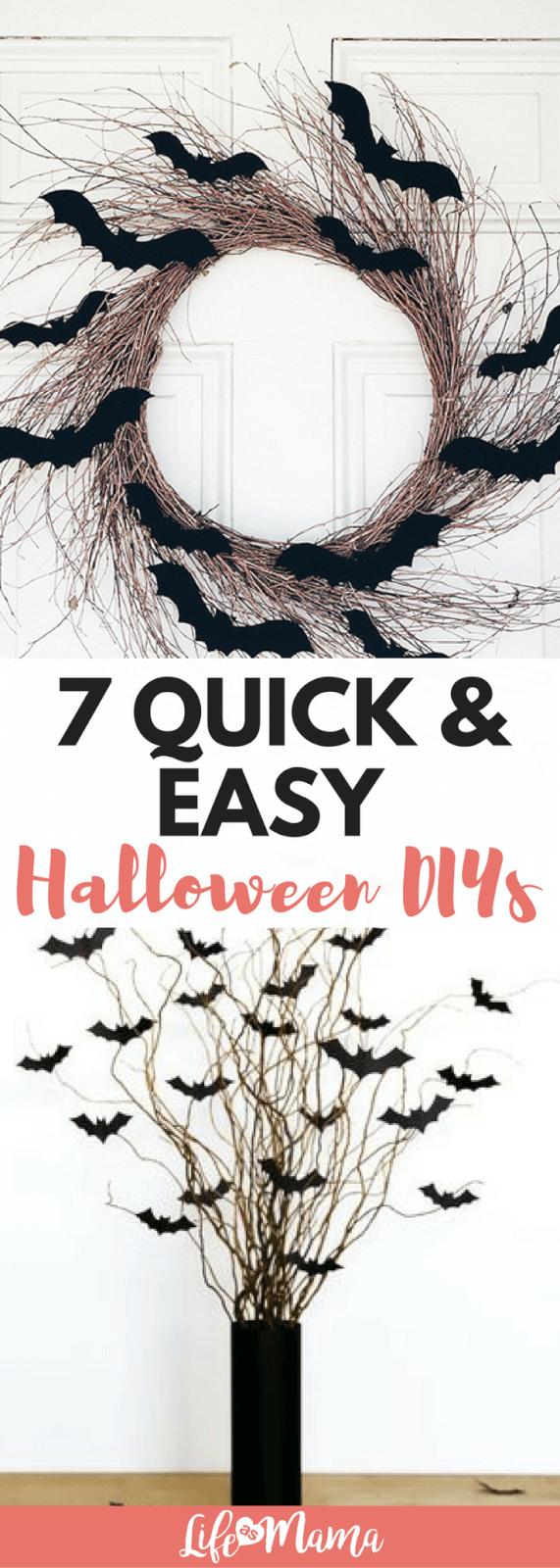7 quick easy halloween diys