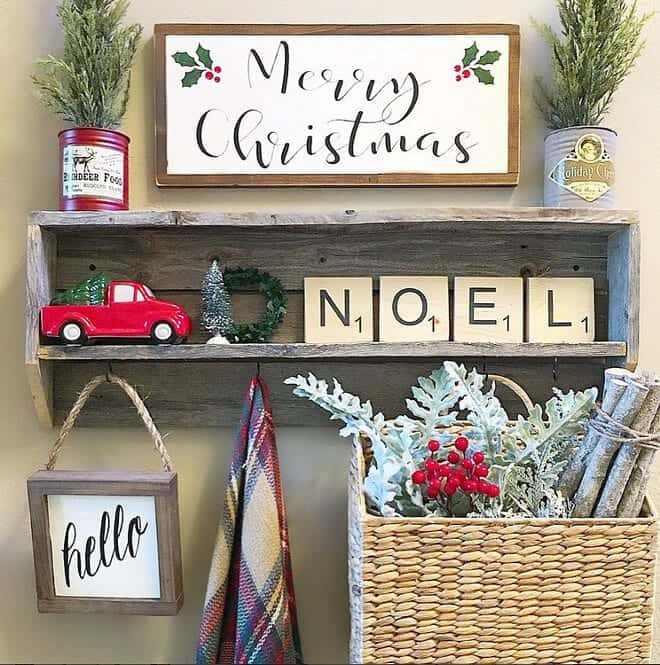 farmhouse christmas - Farmhouse Christmas Decorating Ideas