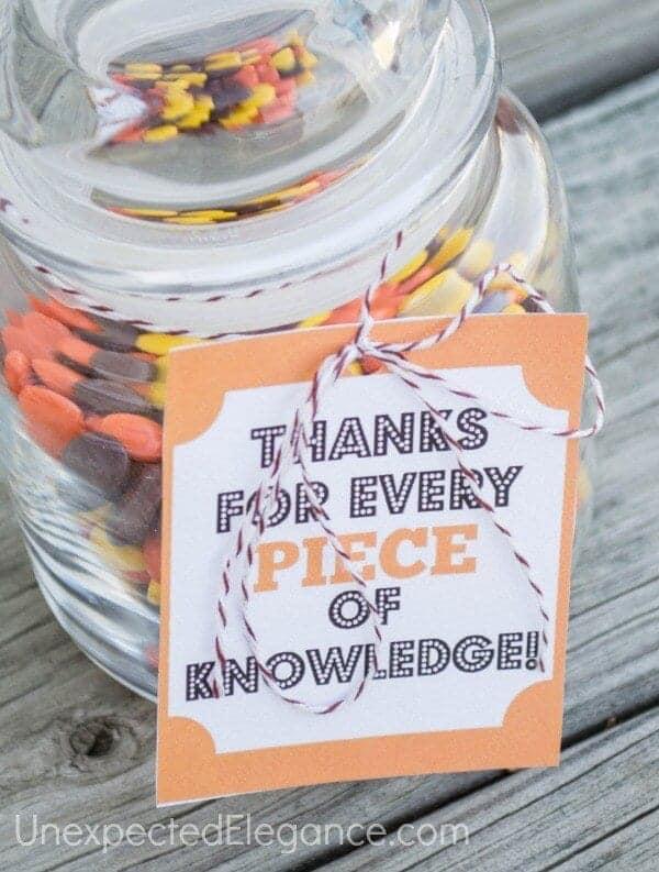 Thanksgiving teacher gifts