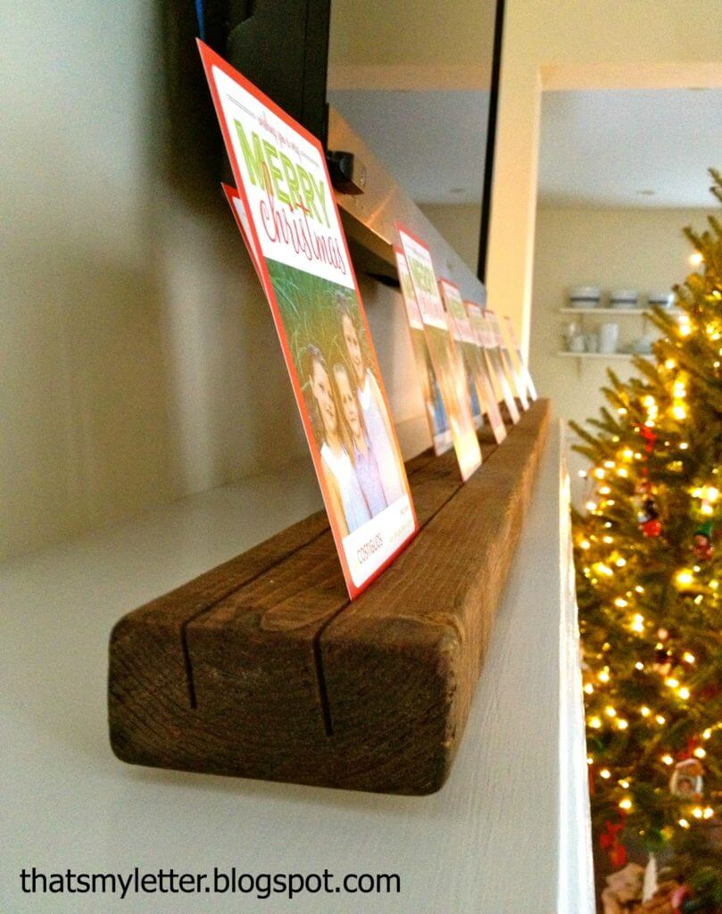 7 crafty  creative diy christmas card holders