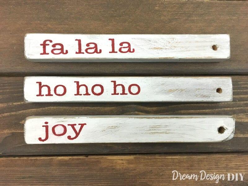 DIY rustic Christmast ornaments