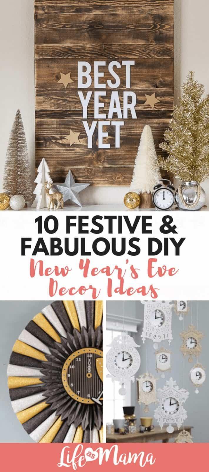 10 Festive & Fabulous DIY New Year's Eve Decor Ideas