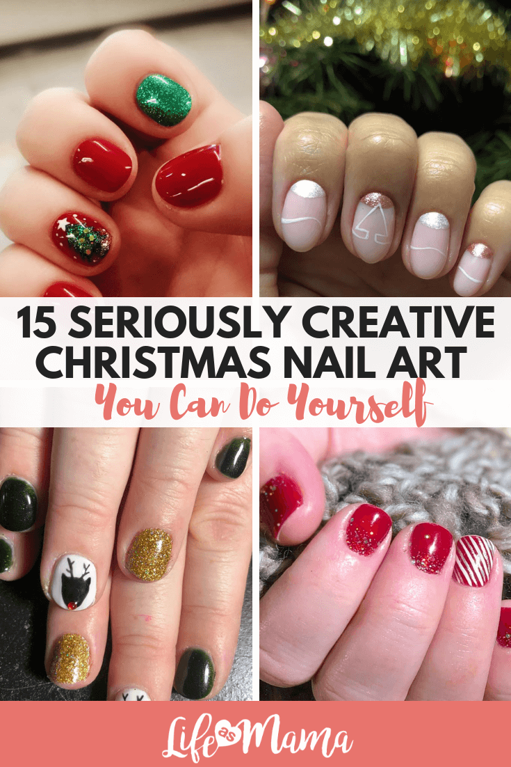 15 Seriously Creative Christmas Nail Art Ideas You Can Do Yourself
