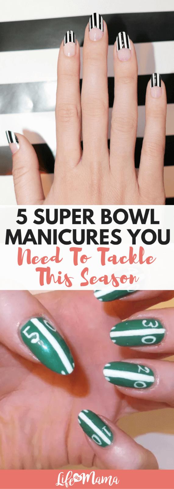 super bowl manicures