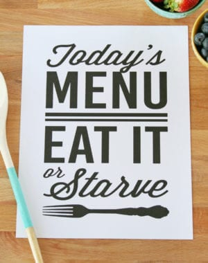 kitchen printables