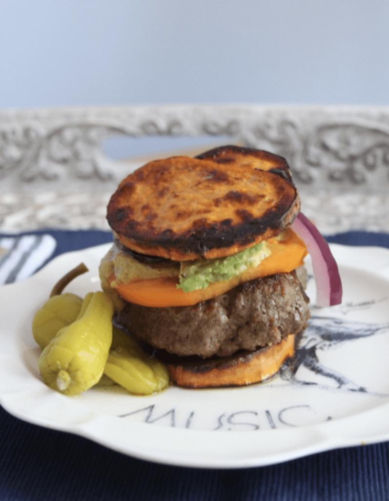 bunless hamburger