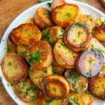 melting potatoes