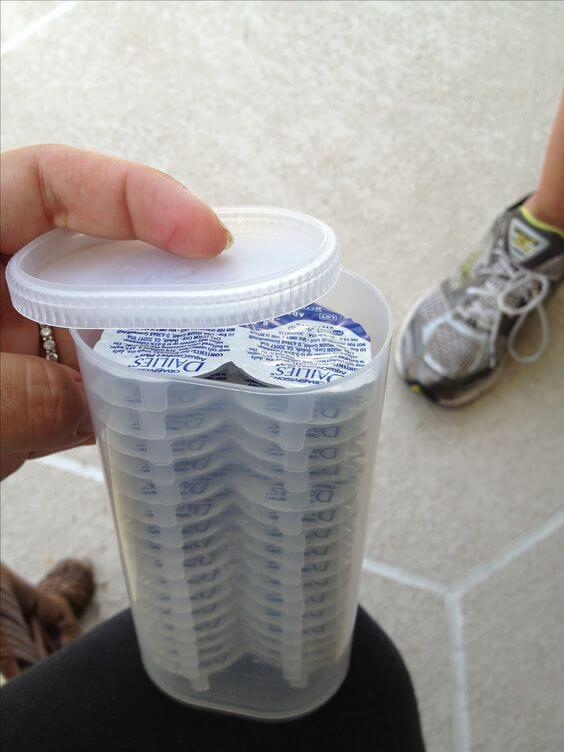 crystal light containers