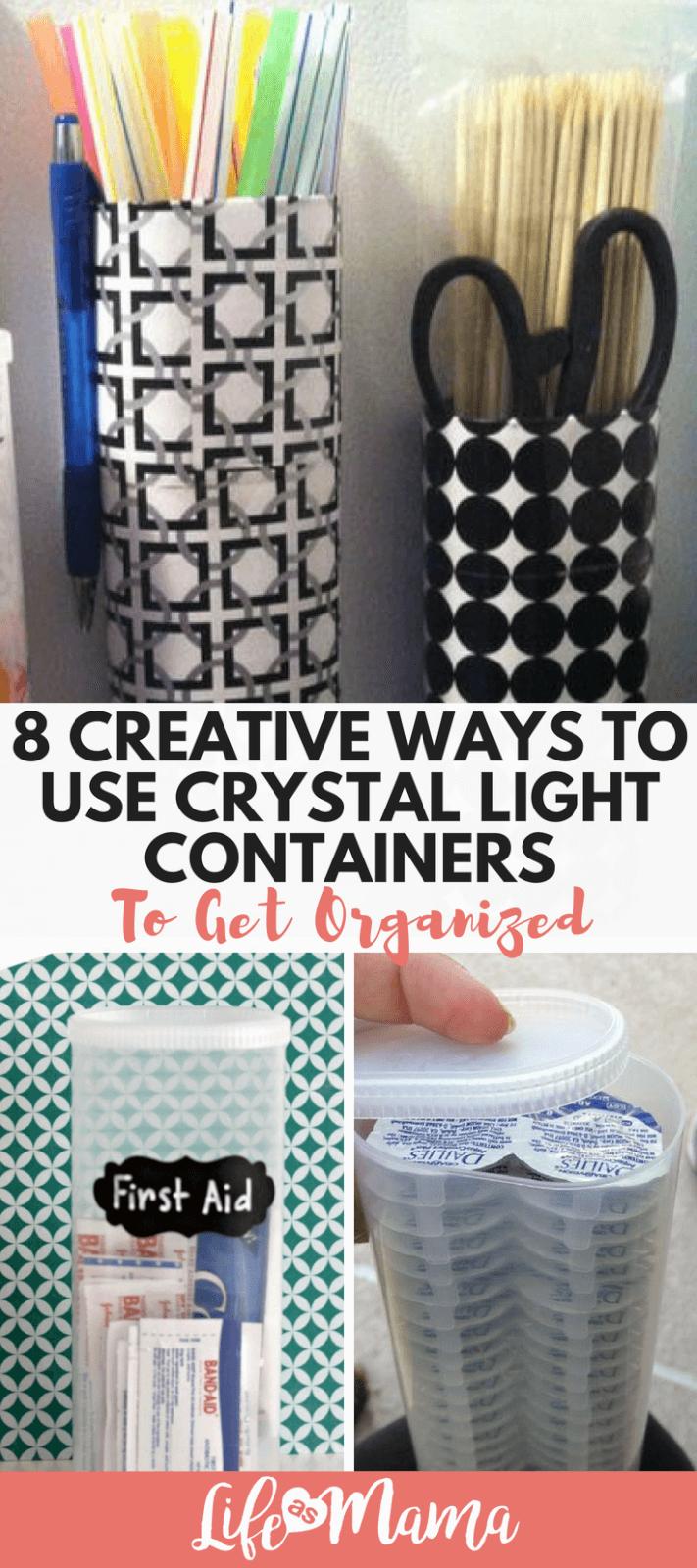 8 Creative Ways To Use Crystal Light Containers To Get Organized