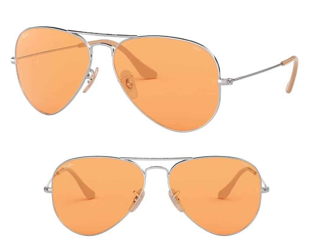 orange-colored sunglasses