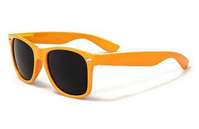orange-colored sunglasses