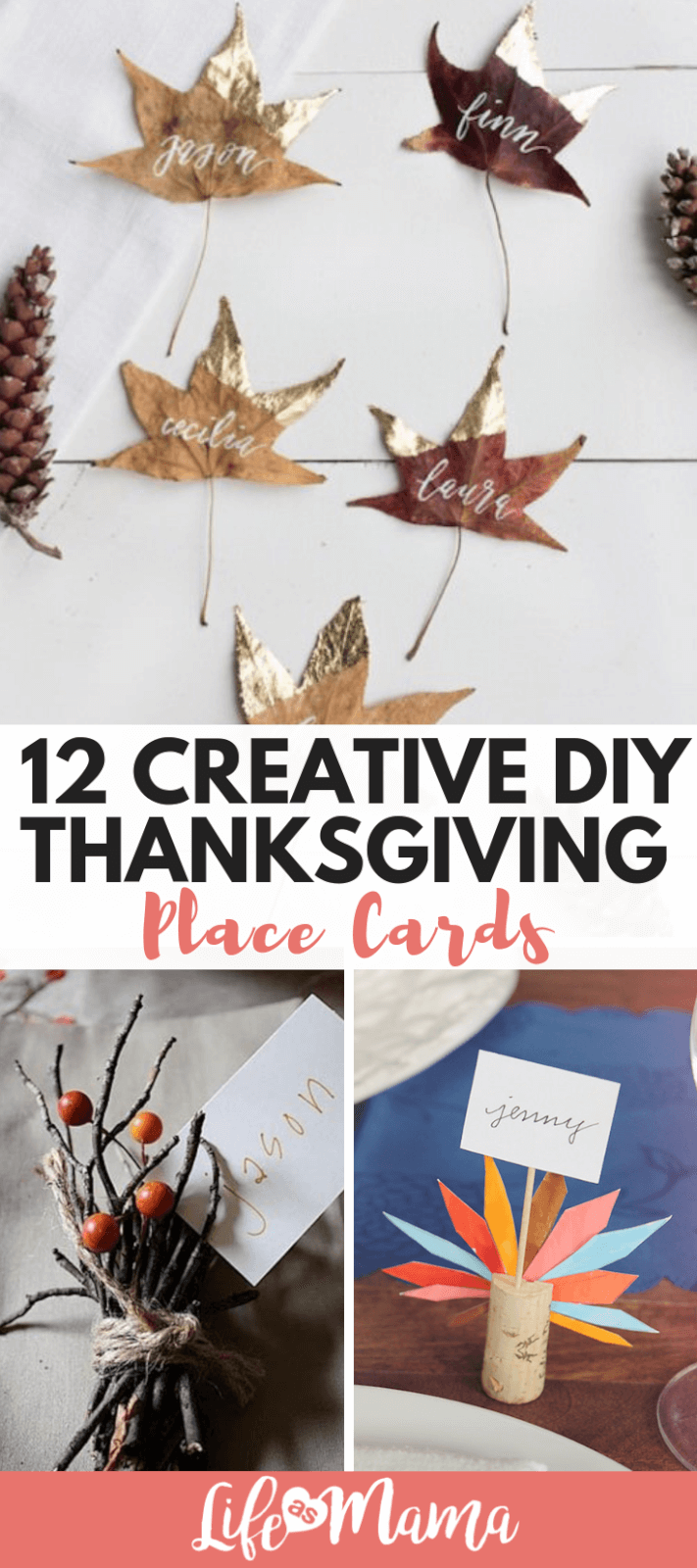 12 Creative DIY Thanksgiving Place Cards