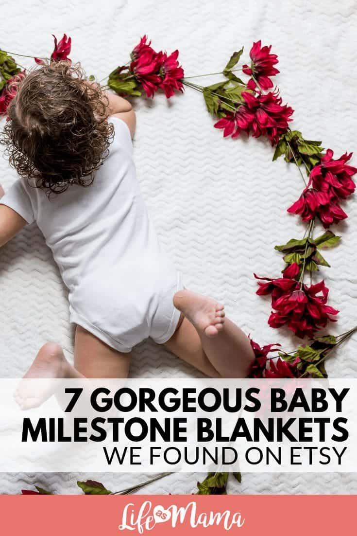 7 Gorgeous Baby Milestone Blankets We Found On Etsy