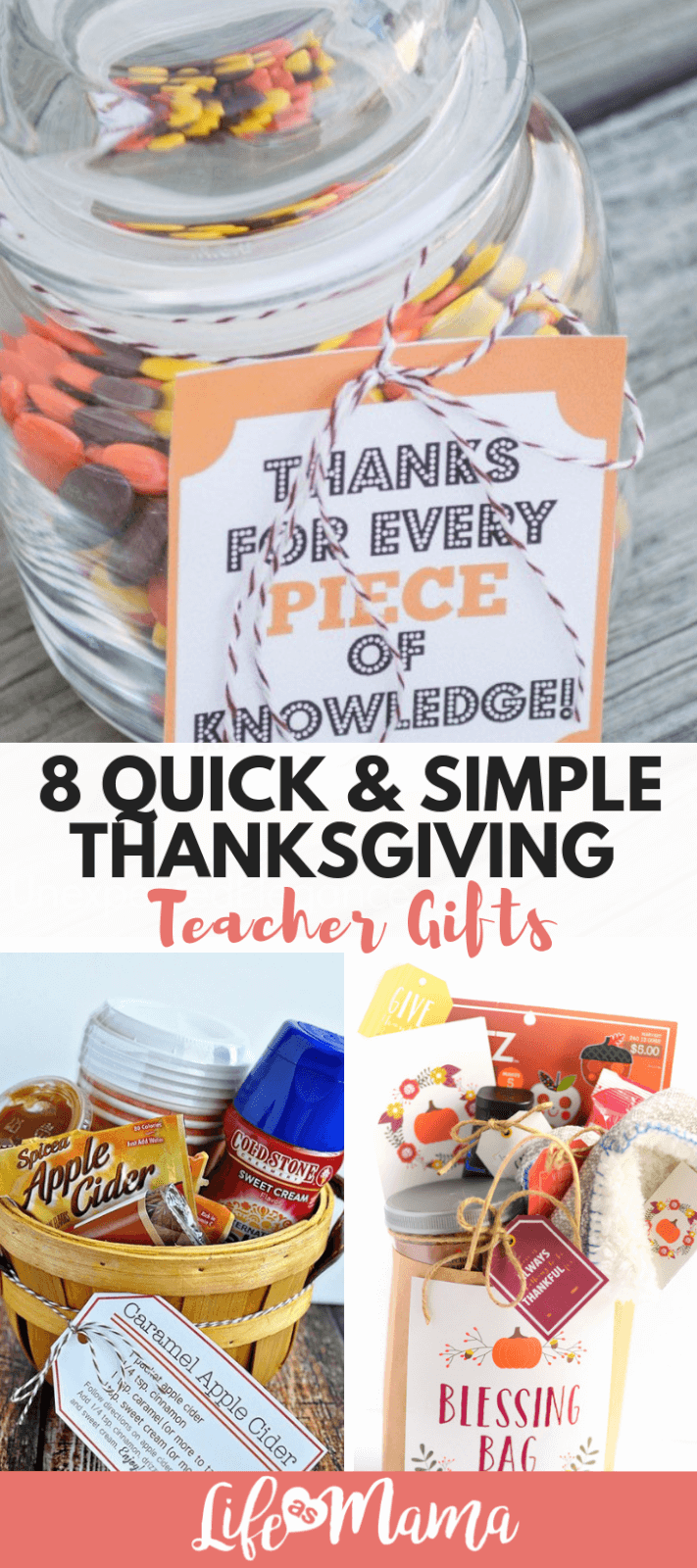 8 Quick & Simple Thanksgiving Teacher Gifts