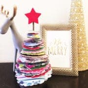 christmas card topiary