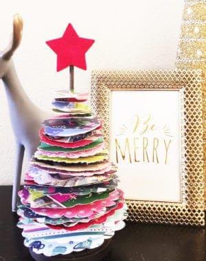 christmas card topiary
