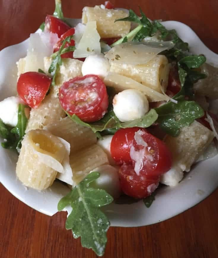 Arugula, Mozzarella, and Tomato Salad