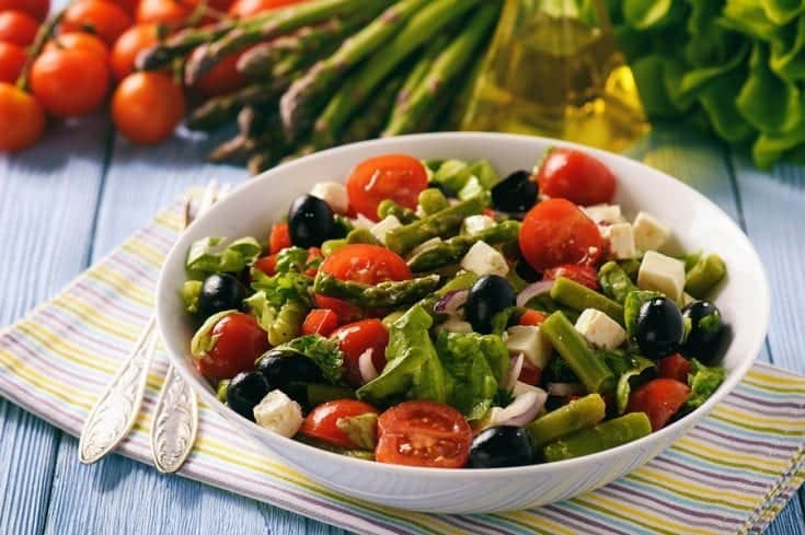 Asparagus, Tomato and Feta Salad