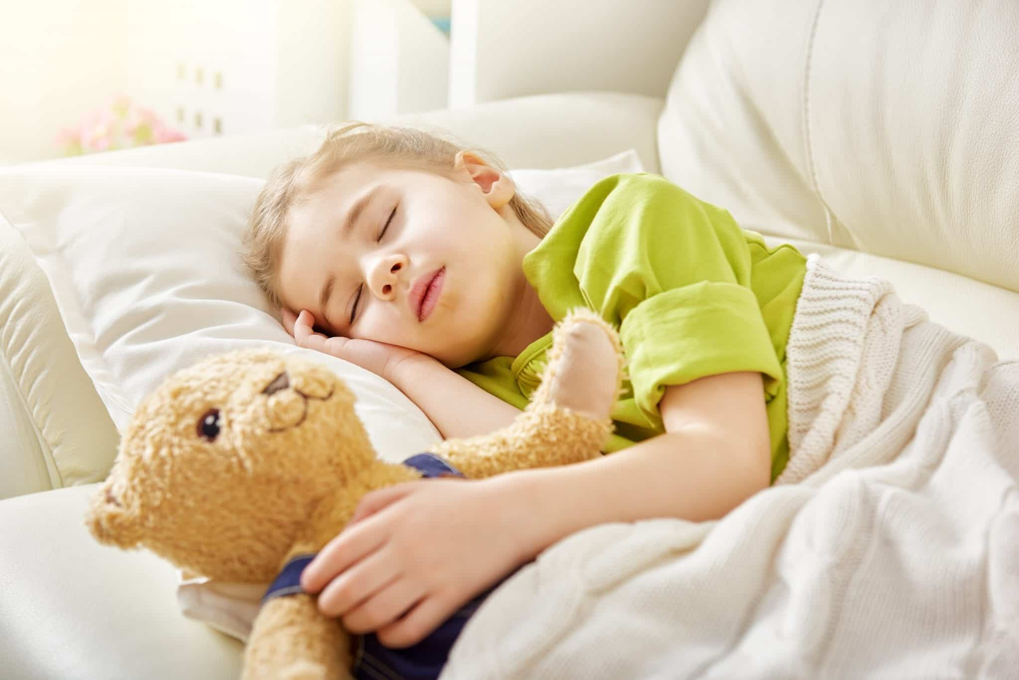 girl sleeping child sleep apnea