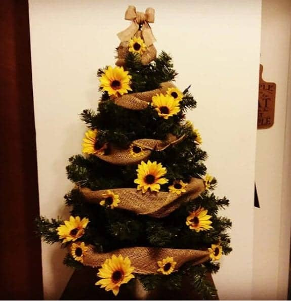 14 Sunflower Christmas Trees To Brighten Up Your Holiday