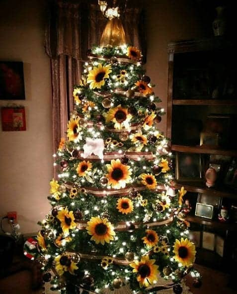 sunflower Christmas Tree