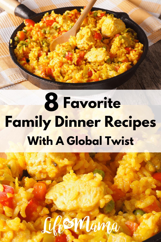 family dinner recipes, chicken recipe, paella