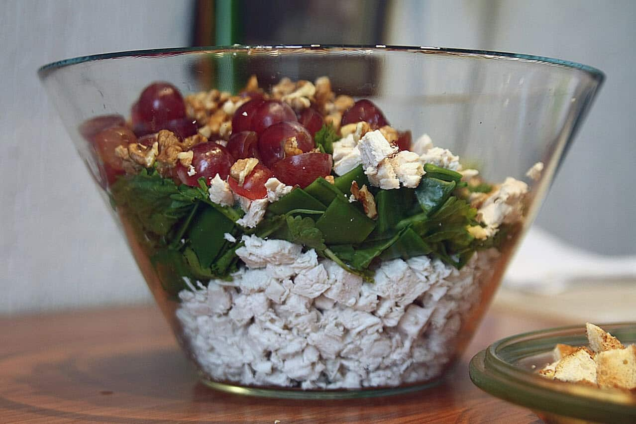 classic waldorf chicken salad